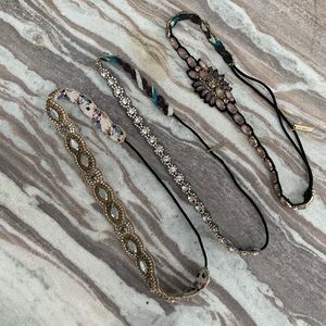 Lot of 3 Deepa Gurnani Headbands. NICE!